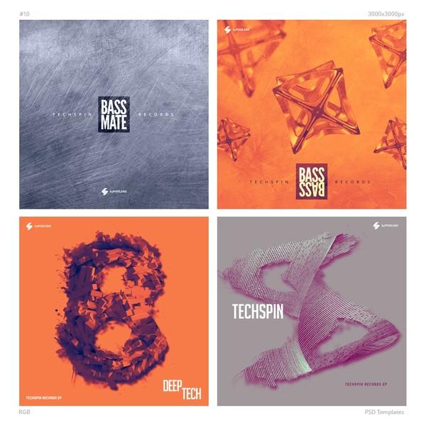 Music Album Cover Artwork Templates Pack 10
