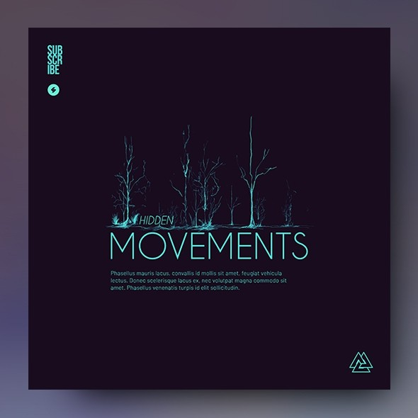 Hidden Movements – Minimal Album Cover Template