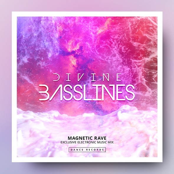 Divine Basslines – Music Album Cover Template