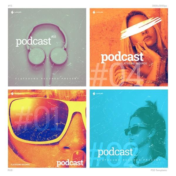 Music Album / Podcast Cover Design Templates Pack 15