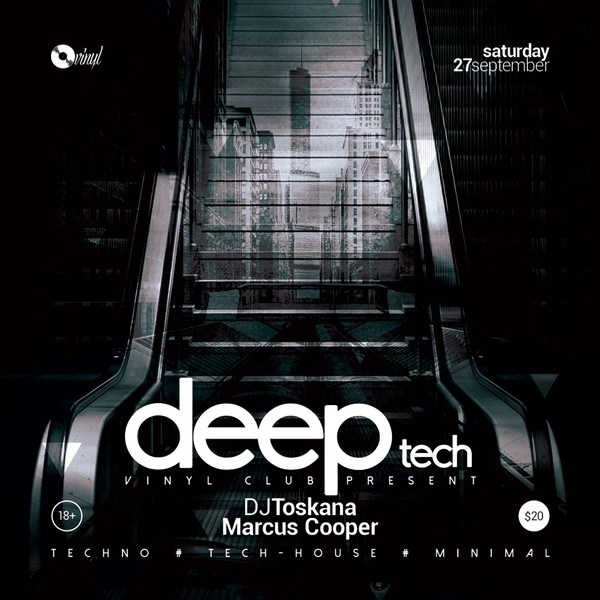 Deep Tech - Techno Party Flyer / Poster Template