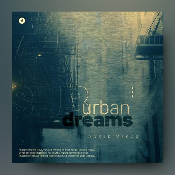 Suburban Dreams – Music Album Cover Template