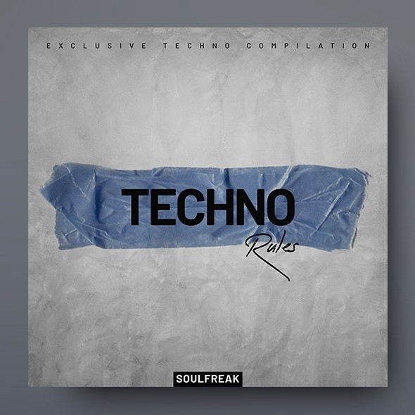Techno Rules – Music Album Cover Artwork Template
