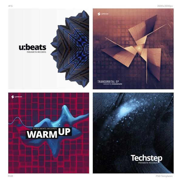 Music Album Cover Templates Pack 16