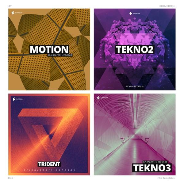 Music Album Cover Artwork Templates Pack 11