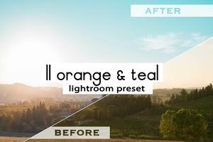 ORANGE & TEAL - Lightroom Presets (Lite Strong)   CASIMIR