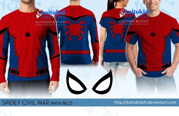 749d333b Spiderman Civil War Shirt / Pattern - Kaitokid Superhero