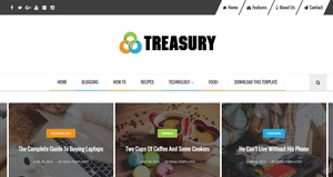Treasury Blogger Template Premium Version