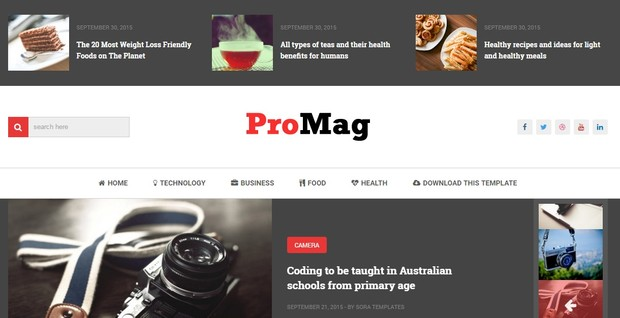 ProMag Blogger Template Premium Version