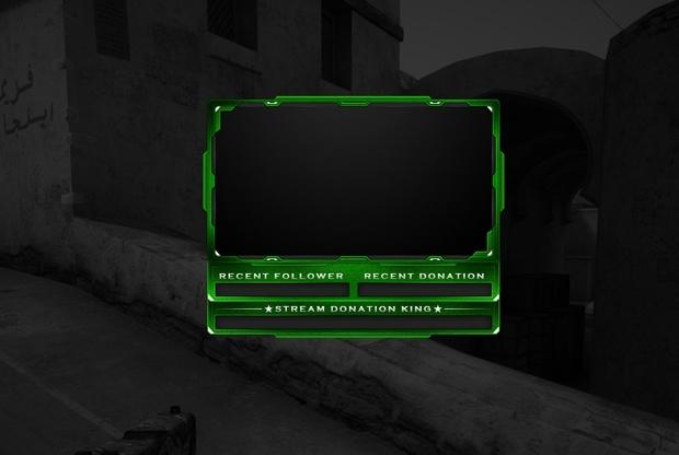 #10 Stream Cam Overlay inkl. PSD - Green