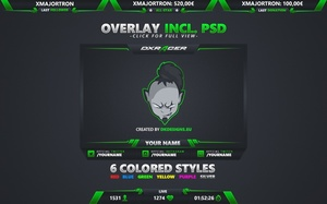 #3 Stream Overlay inkl. PSD (6 Colored Styles)