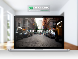 Macbook Pro Retina Mockup incl. 4 Backgrounds