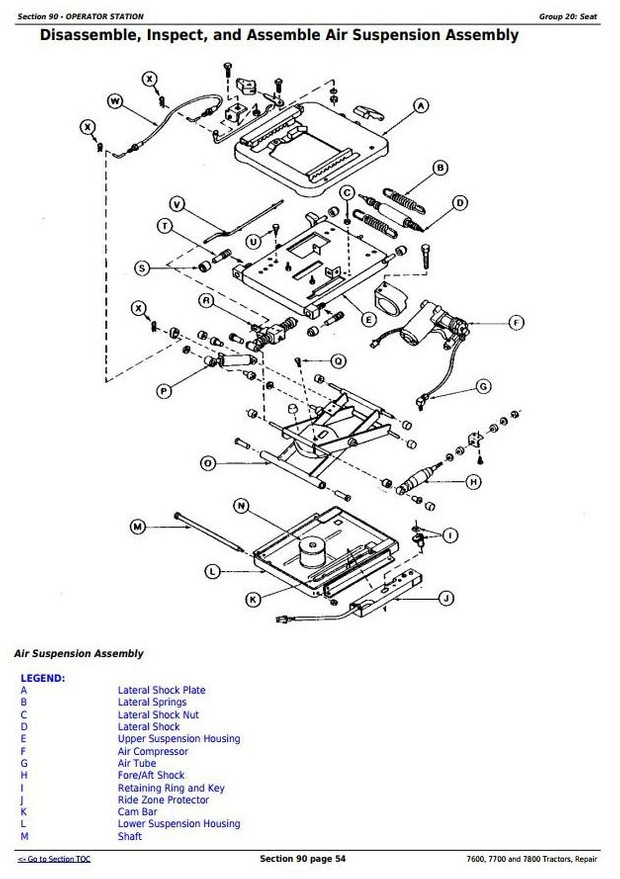 deere 7600, 7700 and 7800 , 2wd or mfwd tractors service repair technical  manual (