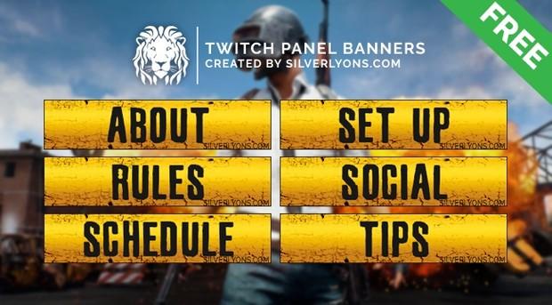 PUBG Title Twitch Panels
