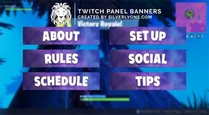 FORTNITE Cover HD Twitch Panels