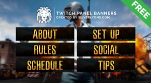 PUBG Cover Twitch Panels