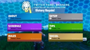 FORTNITE Weapon Rarity HD Twitch Panels