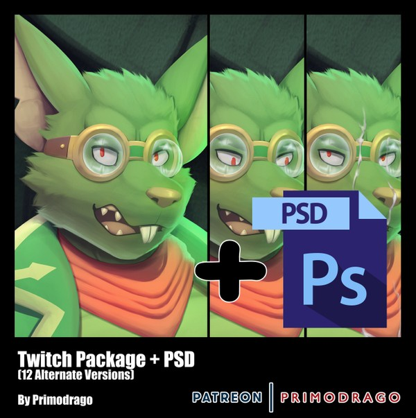 Twitch Artpack + PSD File