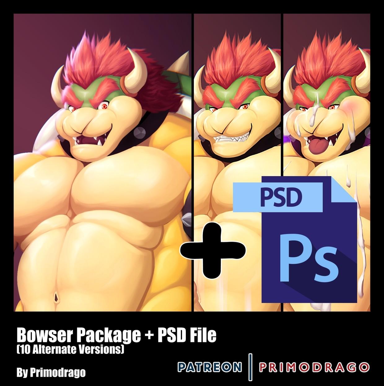 Bowser Artpack + PSD File