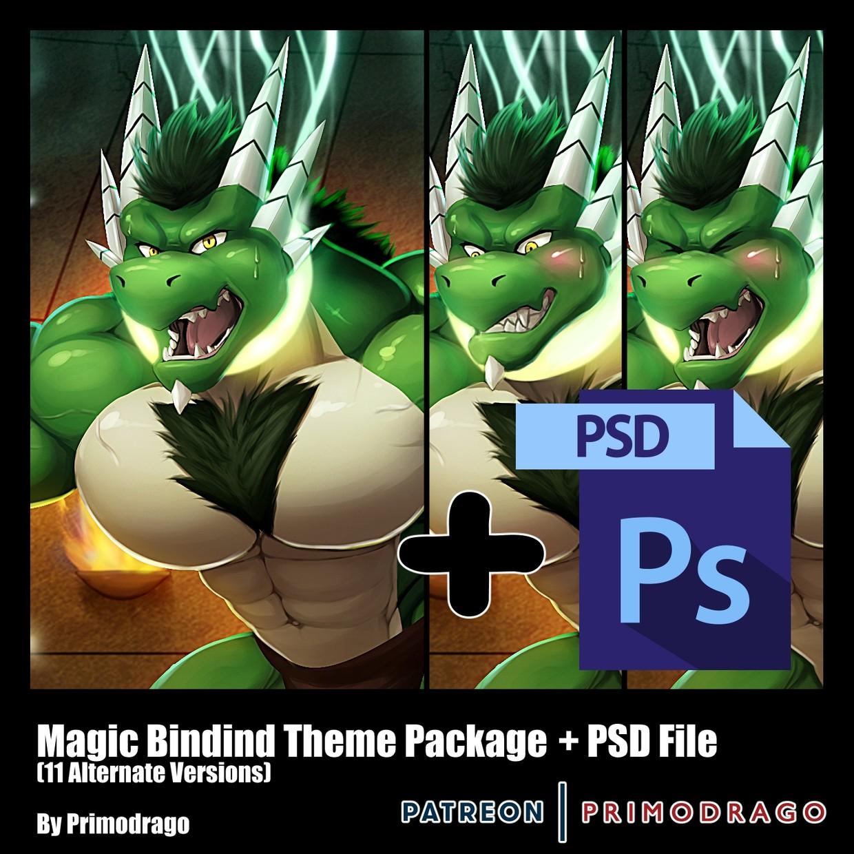 Magic Binding Theme Artpack + PSD File