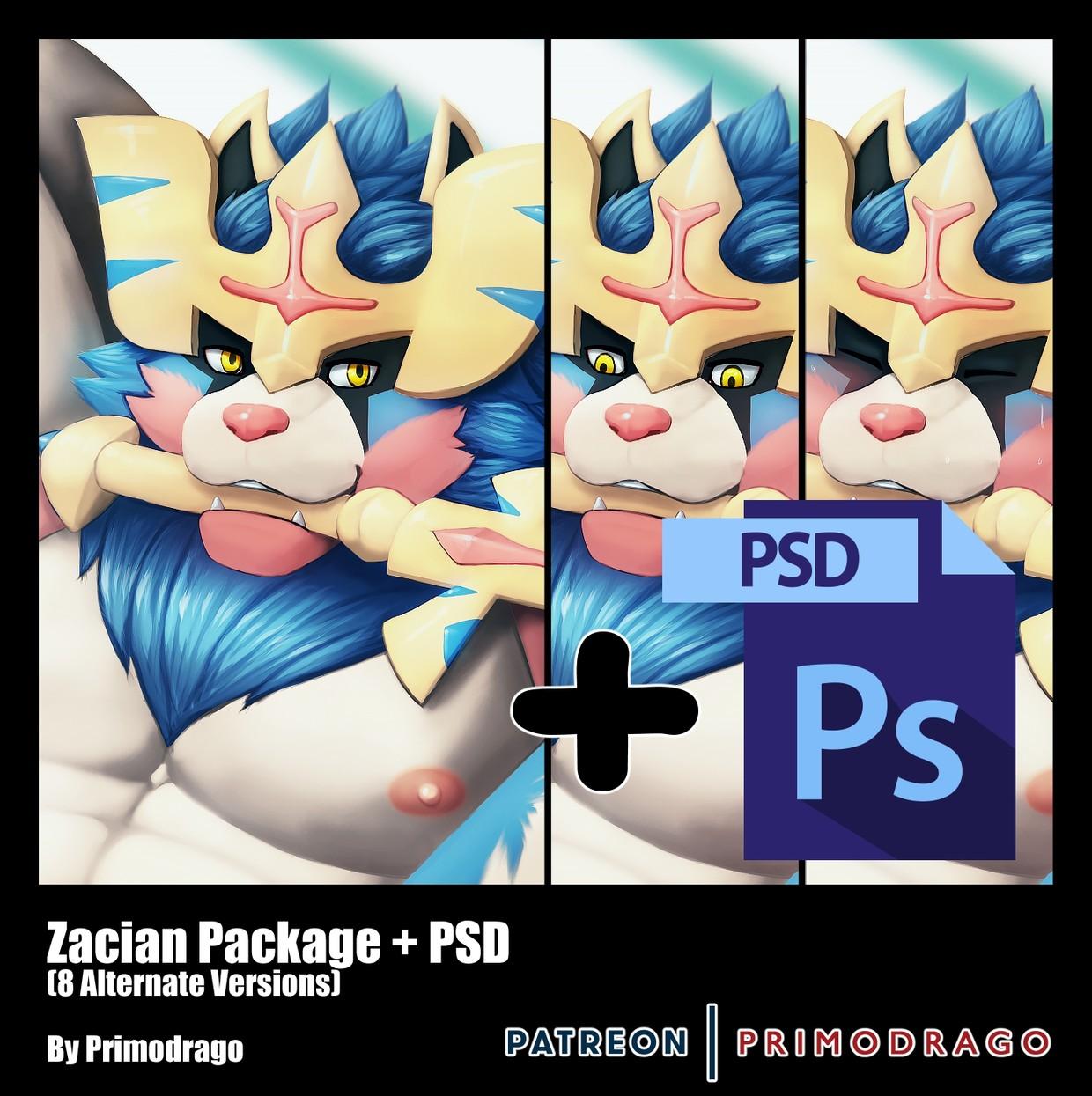 Zacian Artpack + PSD File