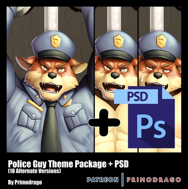 Police Guy Theme Artpack + PSD File