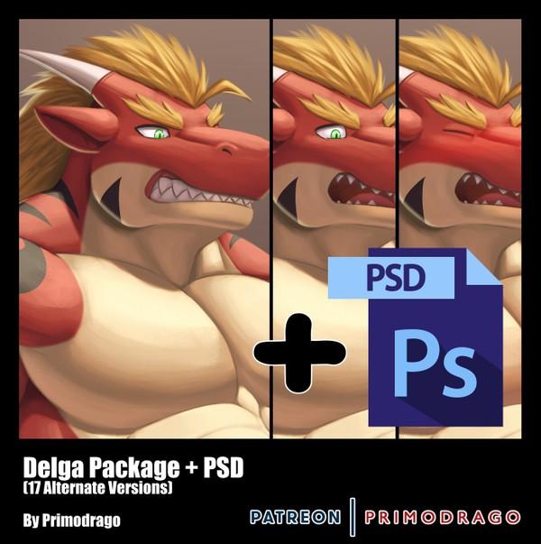 Delga Artpack + PSD File