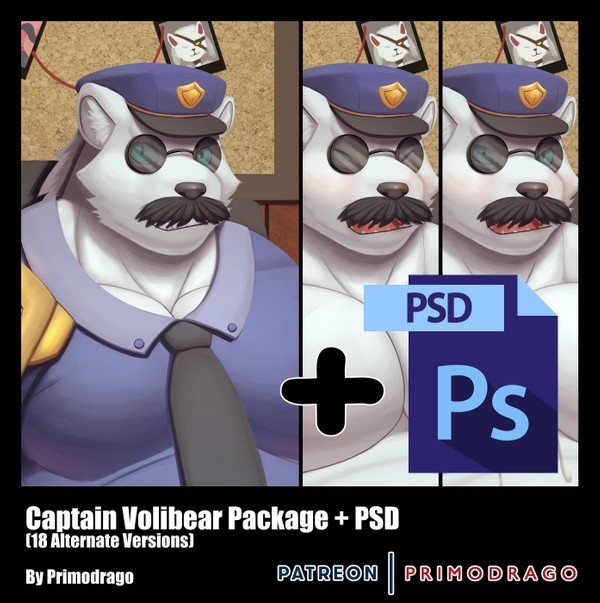 Captain Volibear Artpack + PSD File