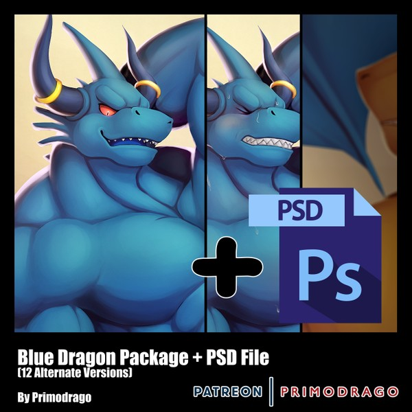 Blue Dragon Artpack + PSD Files
