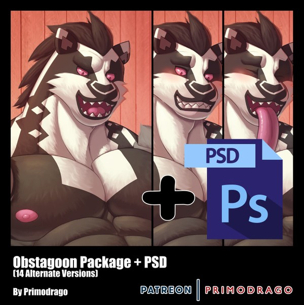 Obstagoon Artpack + PSD File