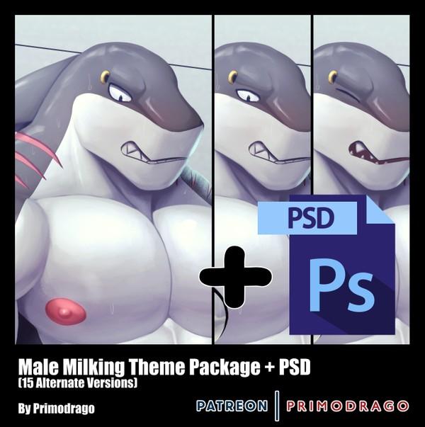 Male Milking Theme + PSD File
