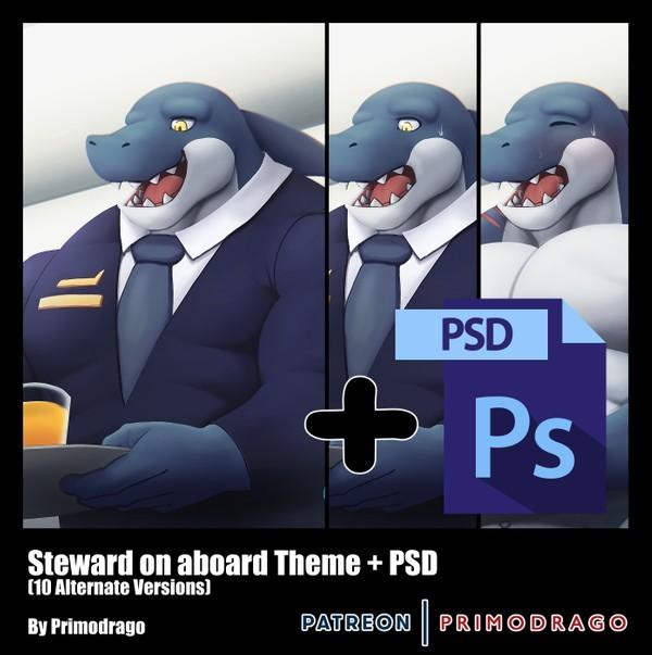 Steward on aboard Theme + PSD File