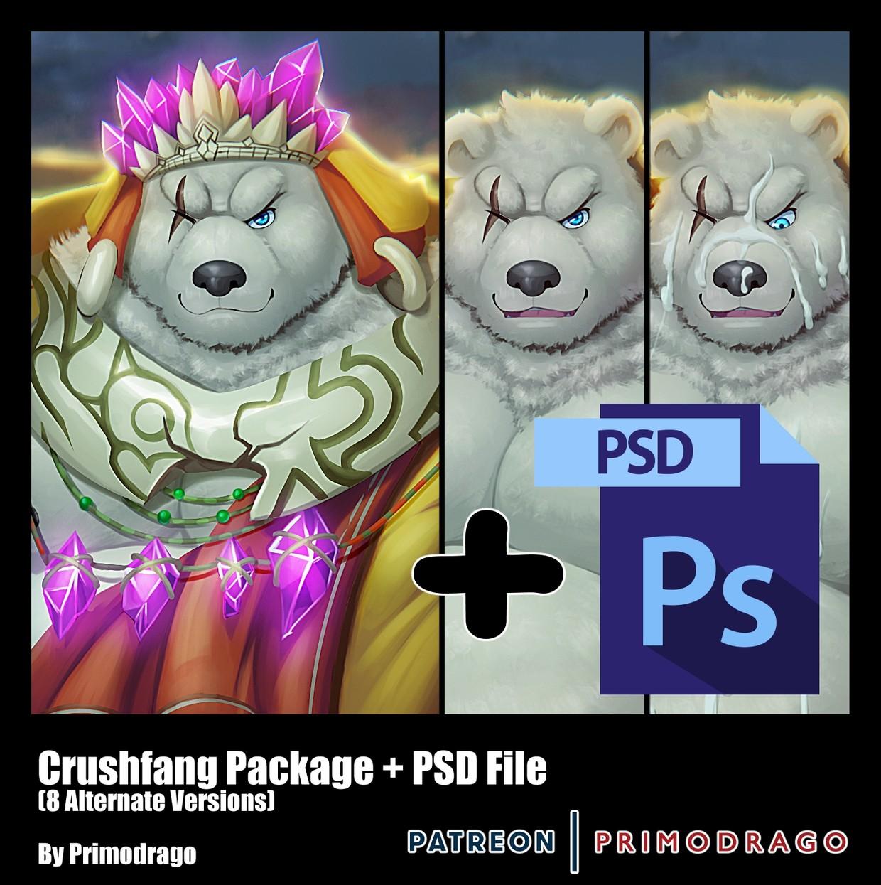Crushfang Artpack + PSD File