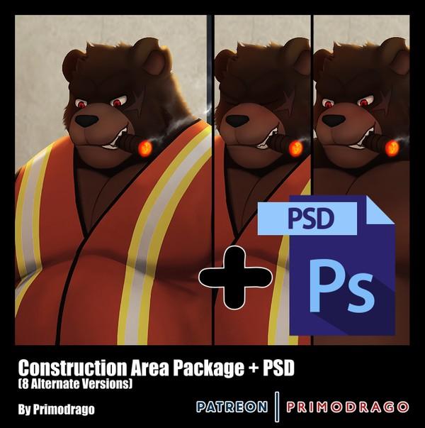 Construction Area Theme + PSD File