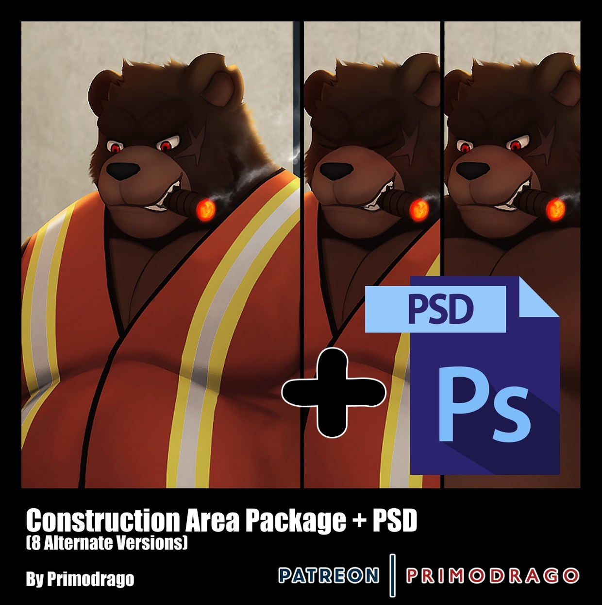 Construction Area Theme + PSD File
