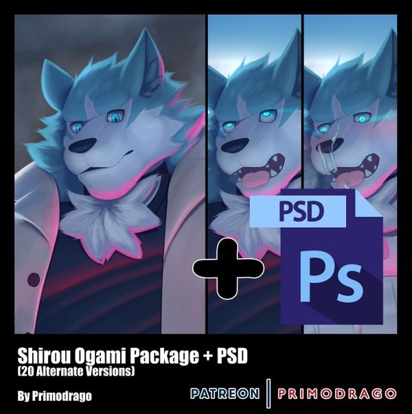 Shirou Ogami Artpack + PSD File