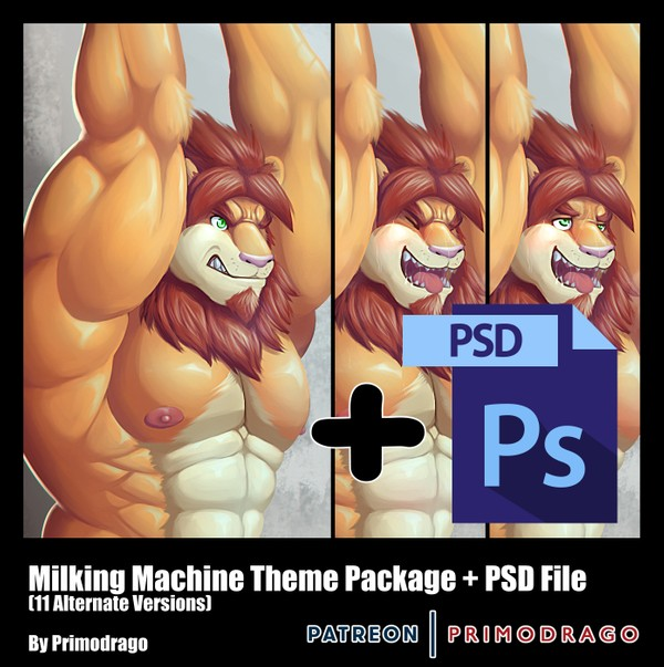 Milking Machine Theme Artpack + PSD File
