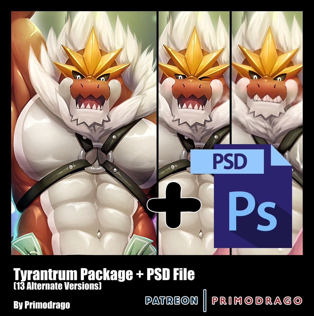 Tyrantrum Artpack + PSD File