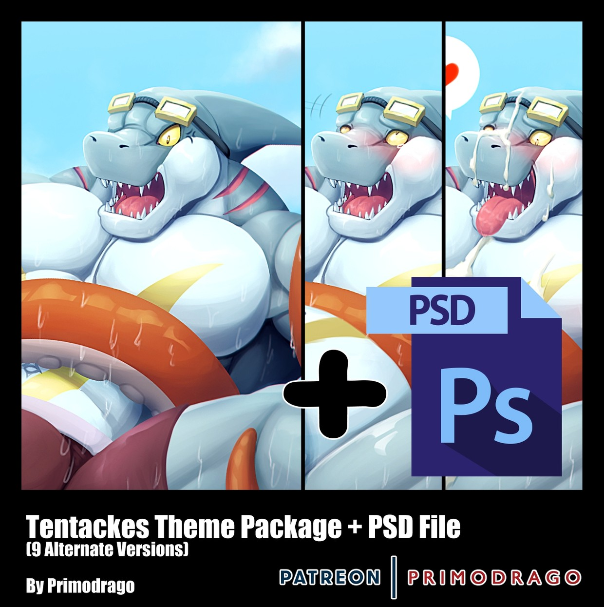 Tentacles Theme Artpack + PSD File