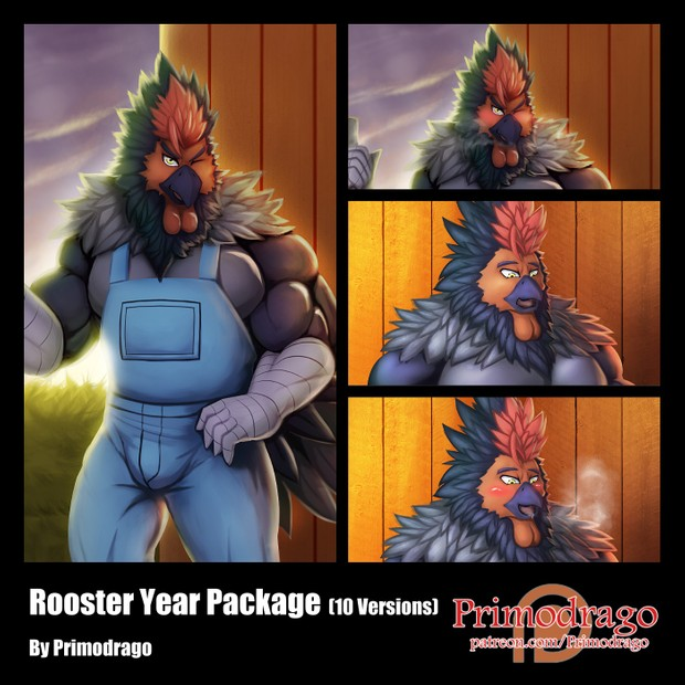 Rooster Year Original Artwork Pack