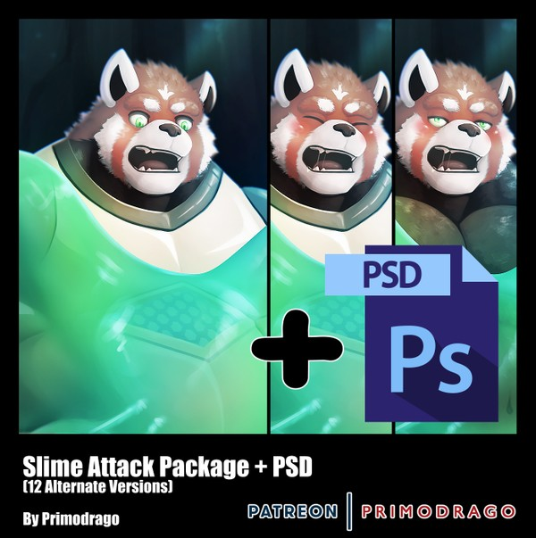 Slime Attack Theme + PSD File