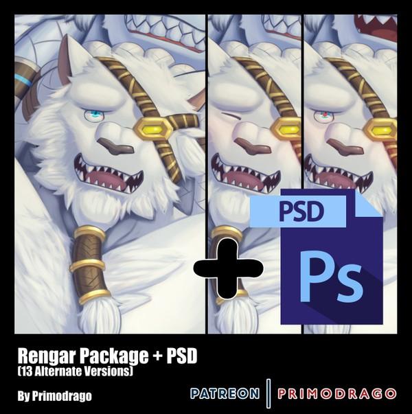 Rengar Artpack + PSD File