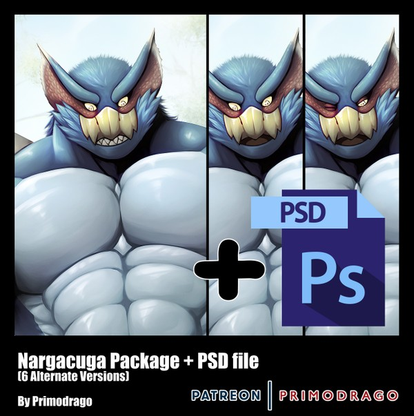 Nargacuga Artpack + PSD File