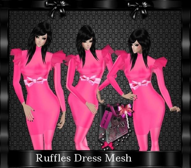 Ruffles Dress Mesh