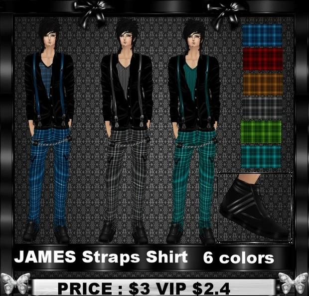 JAMES STRAPS SHIRT