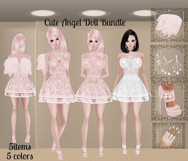 WNT -39 Cute Angel Doll Bundle