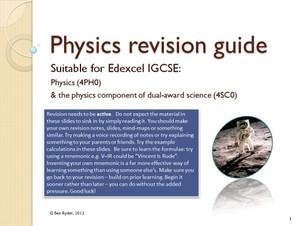 Edexcel IGCSE revision guide
