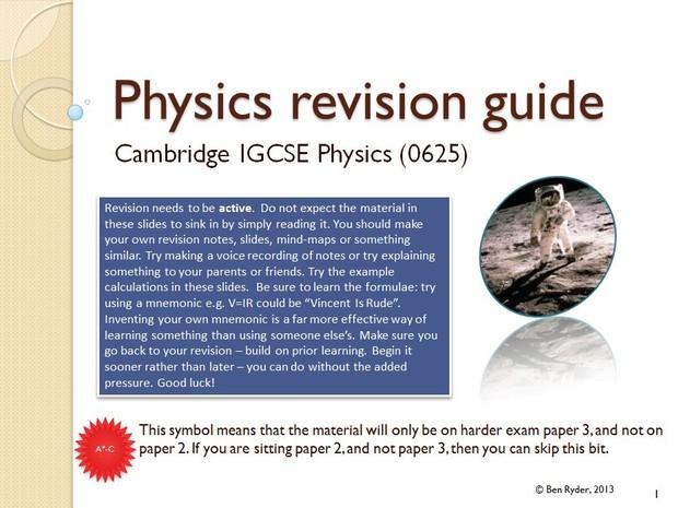 Cambridge IGCSE physics (0625) complete revision guide