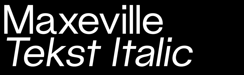 Maxeville Tekst Italic (OTF)
