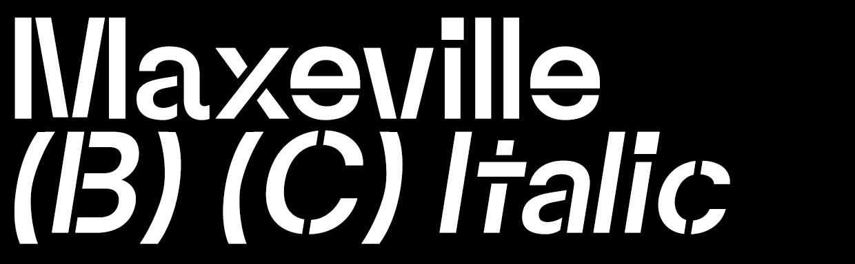 Maxeville Bold Construct Italic (OTF)